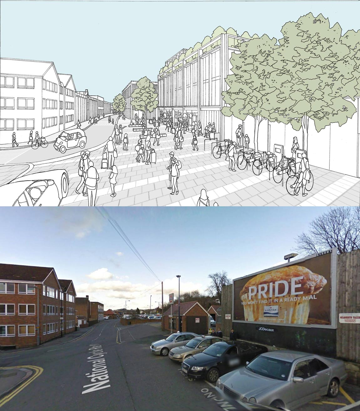 visual conceptchesham station prepared for Chesham Masterplan